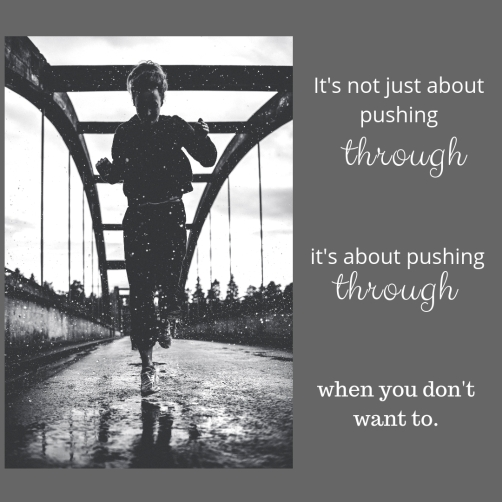 It's not just about pushing through,